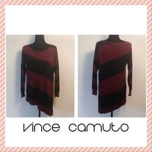 NWT Vince Camuto Striped Asymmetrical Sweater